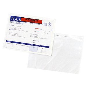 Pochette porte-documents adhésive RAJA Eco documents ci-inclus 225x165 mm, lot de 1000