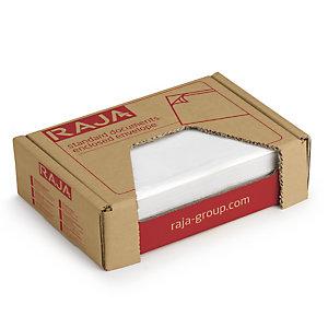 Pochette porte-documents adhésive transparente en mini-colis Eco RAJA
