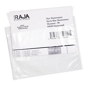 Pochette porte-documents adhésive transparente RAJA Eco 225x165 mm, lot de 1000.