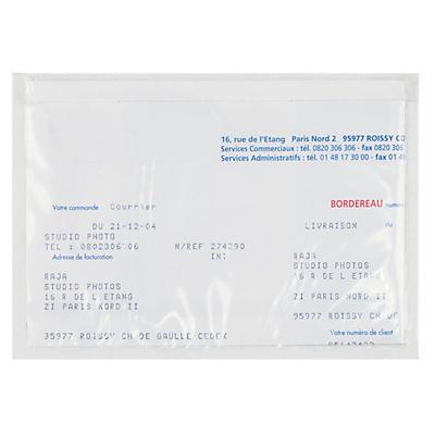 Pochette porte-documents adhésive transparente RAJALIST Eco