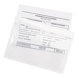 Pochette porte-documents adhésive transparente Super RAJA