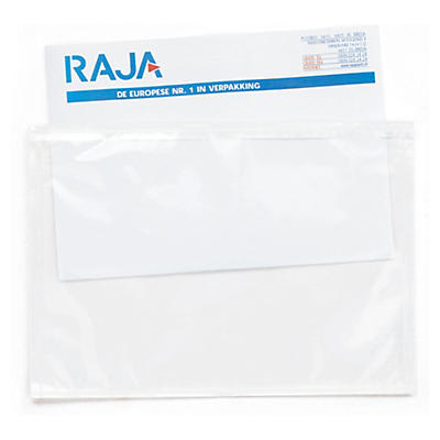 Pochette porte-documents transparente 70 microns##Transparante zelfklevende documentenhoesjes in een dispenserdoos, 70 micron