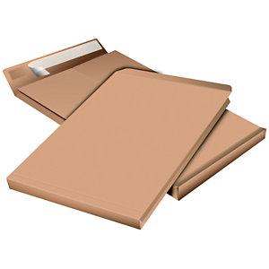 Pochette à soufflet 3 cm en kraft blond armé C4 - 229 x 324 mm 130g sans fenêtre - bande autoadhésive
