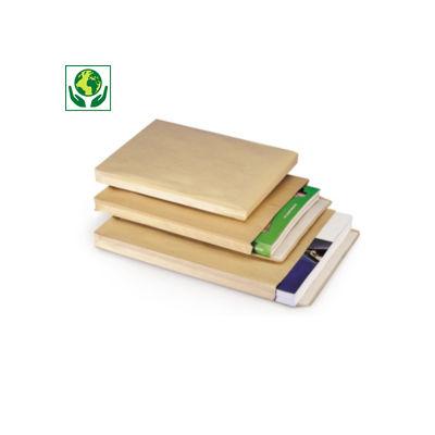 Pochette à soufflets en kraft vergé brune##Envelop met zijvouw, gevergeerd kraftpapier