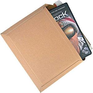 POHL SCANDIA 25 Pochettes en carton, brun, 234x180mm, pour 1 DVD