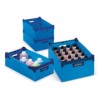 Poliboard stackable plastic storage containers