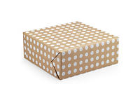 Polka dot Kraft wrapping paper