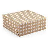 Polka dot Kraft wrapping paper