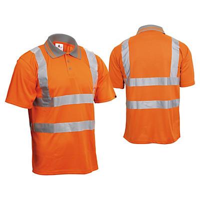 Polo alta visibilità maniche corte arancio
