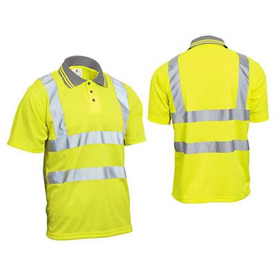 Polo alta visibilità maniche corte gialla