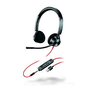 POLY Blackwire 3325 - Casque Jack et USB-A filaire Stéréo - Noir