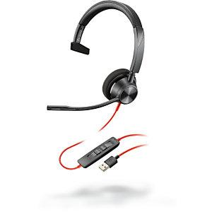 POLY Blackwire 3325 - Casque Jack et USB-C filaire Stéréo - Noir
