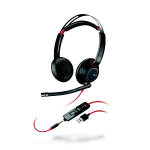 POLY Blackwire 5220 - Casque Jack et USB-A filaire Stéréo - Noir