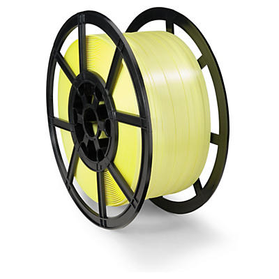 Polypropylene hand strapping on a plastic reel
