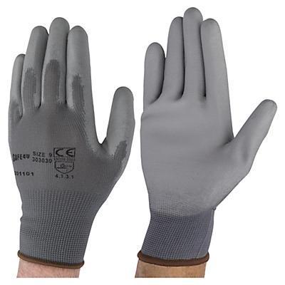 Polyurethane palmed gloves
