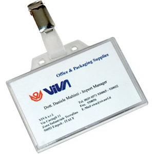 Porta badge con clip (confezione 50 pezzi)