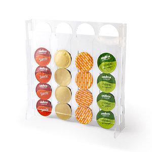 Porta Cialde verticale Lavazza, Plexiglass trasparente