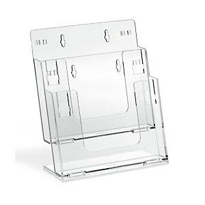 Portadepliant componibile - da banco e parete - 2 tasche A4 - Lebez