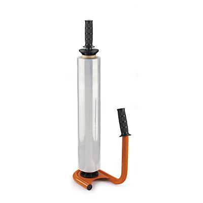 Portarrollos ergonómico de acero para film estirable