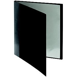 Porte-vue avec pochette de tranche A4 20pochettes noir