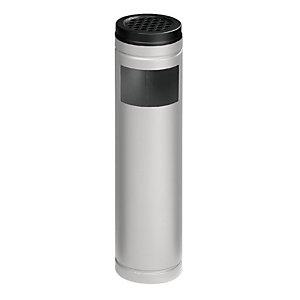 Posacenere gettacarta, Capacità 6 litri, Grigio