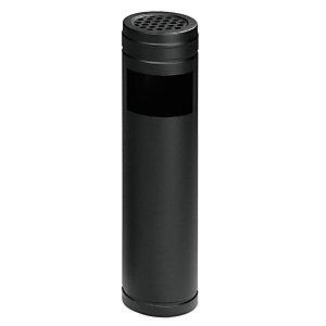 Posacenere gettacarta, Capacità 6 litri, Nero