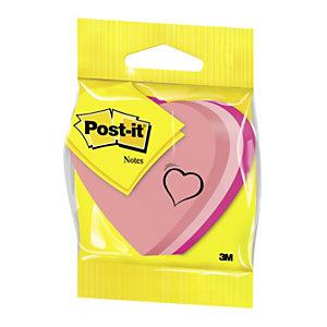 Post-it® 2007-H Notas Adhesivas Corazón, 70 x 70 mm, Rosa, 225 hojas