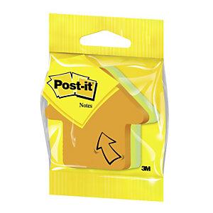 Post-it® 2007-A Notas Adhesivas Flecha, 70 x 70 mm, Colores Surtidos Neón, 225 hojas