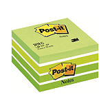 Post-it® 2028-G Notas Adhesivas Cubo 76 x 76 mm, Verdes Surtidos, 450 hojas