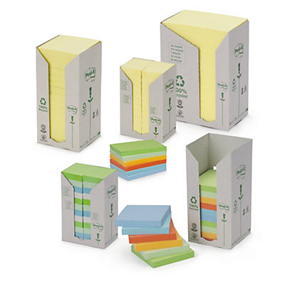 Post-it 3M recyclés##Post-it 3M Haftnotizen Recycling