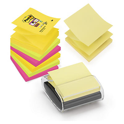 Post-it 3M en Z Super Sticky et dévidoir##Post-it 3M Z-Haftnotizen Super Sticky