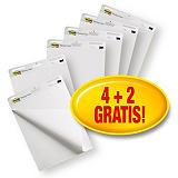 Post-it® 559VP Super Sticky Bloc para caballete de rotafolios, 4 + 2 blocs GRATIS, 63 x 73,2 cm, 30 hojas, blanco