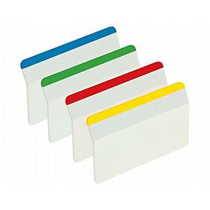 """Post-it® Banderitas adhesivas rígidas Index 2"""" Borde de color"""