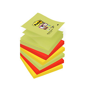 Post-it® Bloc 90 Feuilles Notes Repositionnables Super Sticky Z-Notes Carré Collection Marrakech, 76 x 76 mm