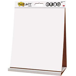 Post-it® Bloc de reuniones con papel adhesivo reposicionable