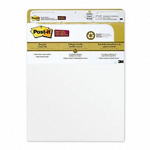 Post-it® Blocco adesivo Meeting Charts, Carta riciclata, 63,5 x 77,5 cm, Bianco (confezione 2 pezzi)