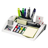 Post-it® C50 Organizador de escritorio con Cinta transparente Magic™ 19 mm x 33 m y Marcapáginas pequeño colores variados y Notas adhesivas Canary Yellow™