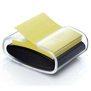 Post-it® Dévidoir Z-notes PRO noir + 1 bloc Z-notes 76 x 76 mm, jaune