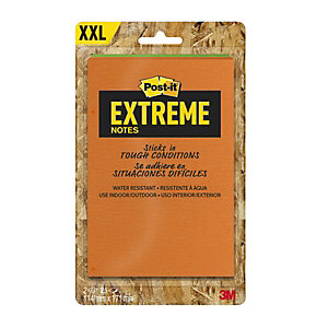 Post-it® Extreme XXL Notas Adhesivas Bloques 114 x 171 mm, colores surtidos, 25 hojas