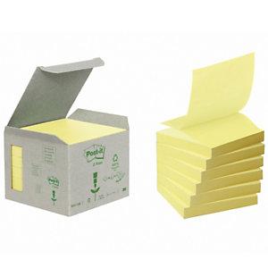 Post-it® Foglietti Z-Notes per dispenser, Blocchi 76 x 76 mm, Giallo Canary, 100 foglietti (confezione 6 pezzi)