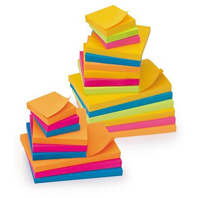 Post-it i blandede farver