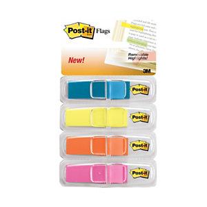 Post-it® Index Small Segnapagina, Formato 2 x 43,6 mm, Colori Brillanti