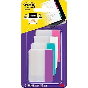 Post-it® Marcadores rígidos grandes de 50,8 x 38mm en colores variados Paquete de 4 x 6 686-PWAV