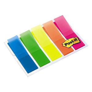 Post-it® Marcapáginas, 11,9 x 43,2mm, colores variados, paquete de 100