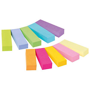 Post-it® Marcapáginas, 12,7 x 44,4 mm, colores surtidos, paquete de 500