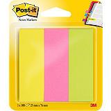 Post-it® Marcapáginas, 25 x 76mm, colores neón variados, paquete de 300