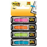 Post-it® Marcapáginas Flechas pequeñas de 11,9 x 43,2 mm en colores variados Pack de 4 x 24 con dispensadores 684-ARR4