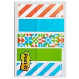 Post-it® Marcapáginas minitiras adhesivas, 11,9 x 43,2mm, colección de colores Geo, paquete de 100