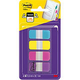 Post-it® Marcapáginas resistentes mini, 16 x 38 mm, colores variados, paquete de 40