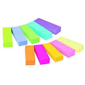 Post-it® Marque-pages, 12,7 x 44,4mm, couleurs assorties, lot de 500